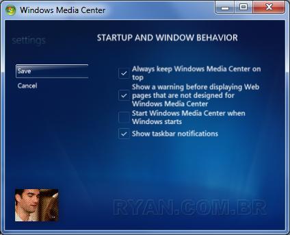 Imagem de Agora toda janela pode ficar sempre visível. (seven WMC StartupAndWindowBehaviour 75)