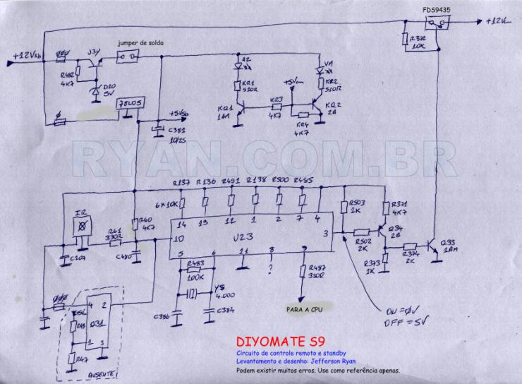 DIYOMATE S9 partial schematic