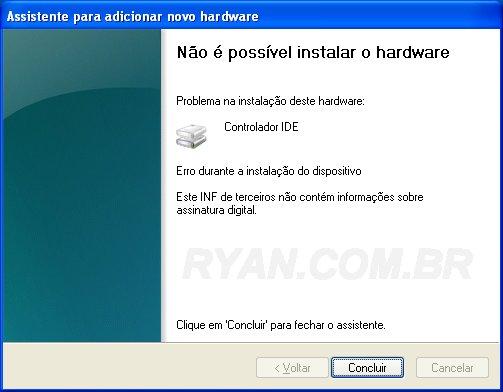 Este INF de terceiros não contém informações sobre assinatura digital_ryan.com.br