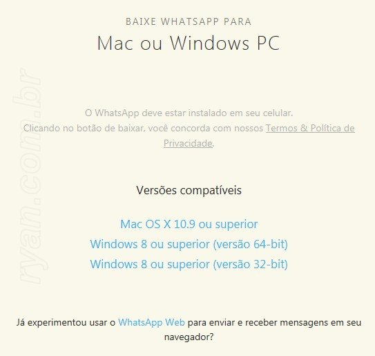 instalar whatsapp para notebook windows 8